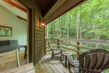 Private deck of second bedroom