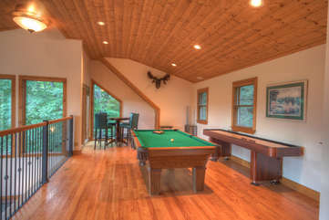 Grandfather Lookout Upstairs Game Room Area