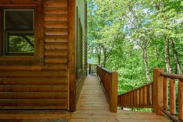 Recently added side deck with Access to Lower Deck, Hot Tub