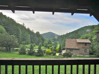 Laurel Chase pleasant view from Front Porch - You are looking at Appalachian Ski Mountain, very near Tweetsie Railroad
