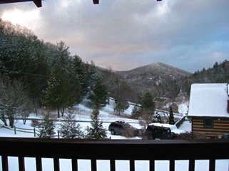 Laurel Chase Winter View looking at Appalachian Ski Mountain
