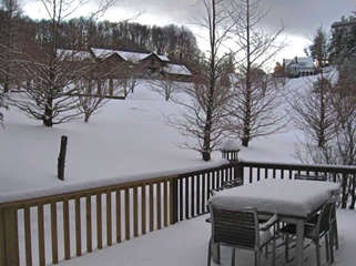 Laurel Chase Winter View from Back Deck