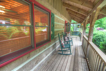 Lazy Bear Cabin Rocking Chair Front Porch