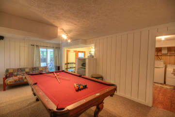 Longview Lodge Game Room with Pool Table, light Weights, Dart Board...