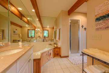 Master Bathroom with Oversized Jetted Tub