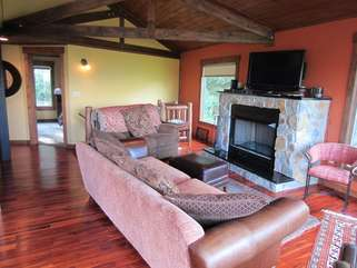 Mountain Delight Living Room Gas Fireplace