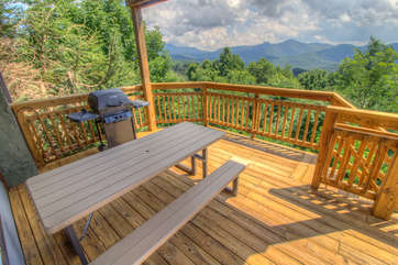 Mountain Majesty Deck off of living room.