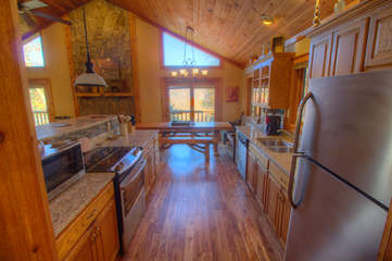 North View Lodge Granite and Stainless open Kitchen