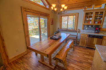 North View Lodge huge hand-crafted Dining Table