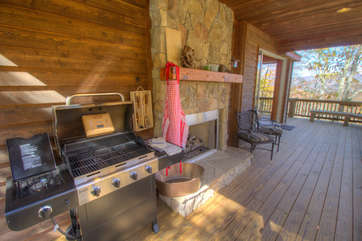 North View Lodge Gas Grill