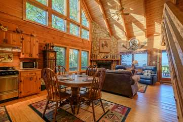 Whispering Pines Open Living/Dining Space