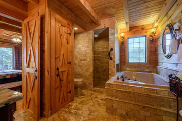 Lower level large Master Bathroom with jetted tub and shower