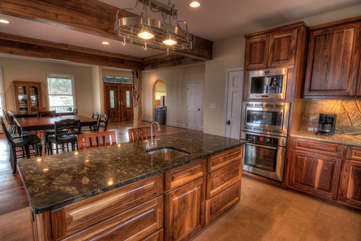 Whispering Hills Kitchen Open to Dining and Great Room