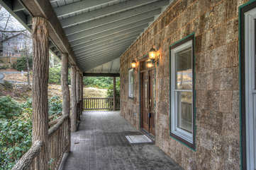 Whispering Hills Long Covered Front Porch