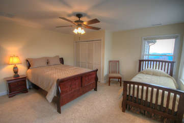 Whispering Hills Bedroom 4 with Queen Bed and Twin Bed Sleeps 3
