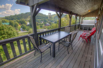 Deck on Back of House with Seating for 5