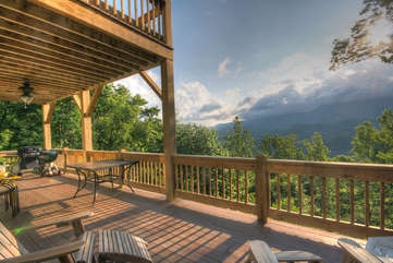 Mountain Views from Main Level Deck