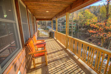 Skyland Cabin ample room on Deck to relax
