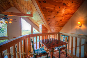 Pinecone Manor Loft Game Table with a View