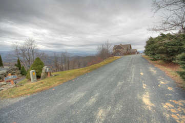 Eagles Nest Road in Front of Home, Great for Walks in the Clouds