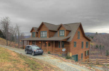 Eagles Nest Exterior, Good Access with Circular Drive