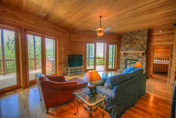 Mountain Top Lodge Living Area on Lower Level