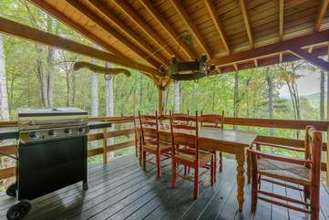 Outdoor Dining for Six and Stainless Gas Grill