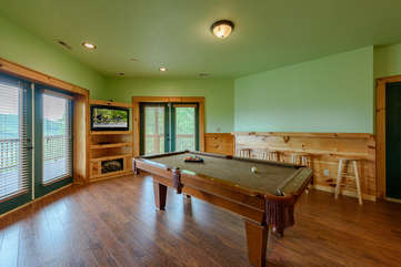Downstairs Pool Table