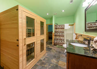 Downstairs Master Bathroom accessed from game room and bedroom