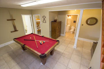 Cabin in the Clouds Slate Billiard Table on the Lower Level