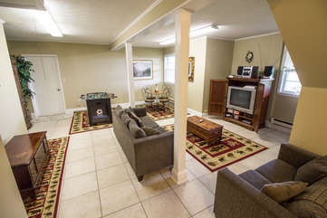 Cabin in the Clouds Flat Screen TV with Plenty of Seating and Wii Gaming System