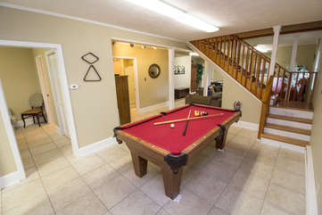 Cabin in the Clouds Billiard Table on Lower Level