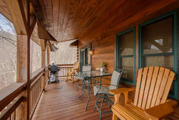 Fox Crossing Deck on Main Level With Plenty of Seating, Propane Grill