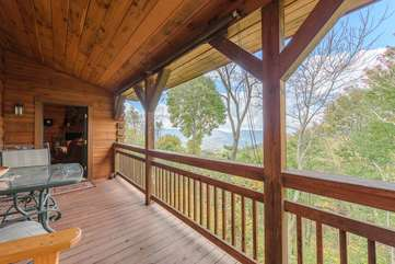 One of two back decks with beautiful view
