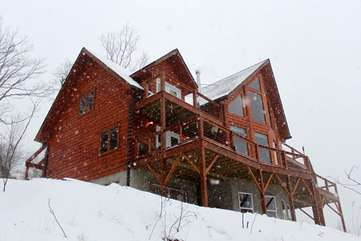 Grandview Lodge on a Snowy Day