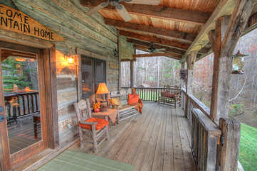 Rustic Elegance, Covered Porch Off Kitchen / Dining