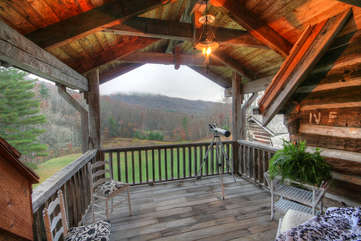 Johnsons Lodge Private View Porch Attached to Master Suite