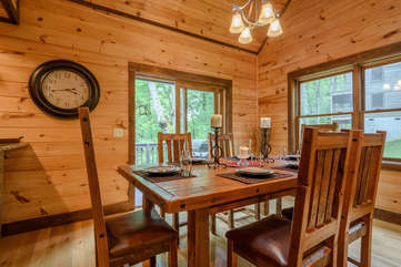 Kingfisher Dining Room opens onto back deck