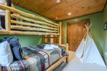 Upstairs Bedroom with Bunk Beds
