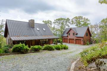 Copper Shanty Main House and Garage with Carriage House