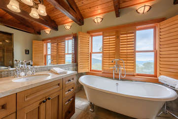 Private Master Bathroom with Soaking Tub and Custom Shower