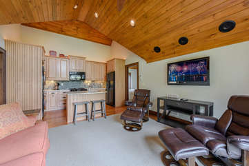 Carriage House Living Room with HDTV