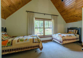 Carriage House Bedroom with Two Twin Beds