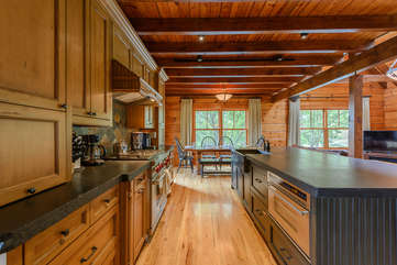 Kitchen with Granite Countertops, Stainless Appliances