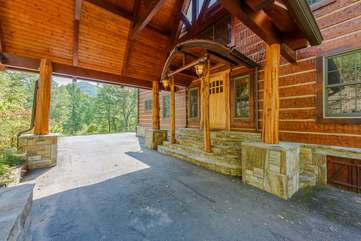 Porte-Cochere with Easy Access to Front Door
