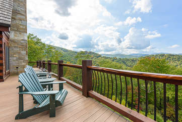 Enjoy the View from the Adirondack Deck Chairs