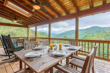 Outdoor Living and Dining with Amazing Views at