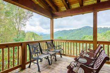 Amazing Long Range, Layered Mountain Top Views can be enjoyed from Great Room, Queen Bedroom, Side and Back Yard, and Rear Deck