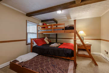 Bunk Room with Full Size Trundle Bed