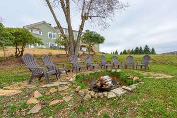 Fire Pit on Rear Grounds